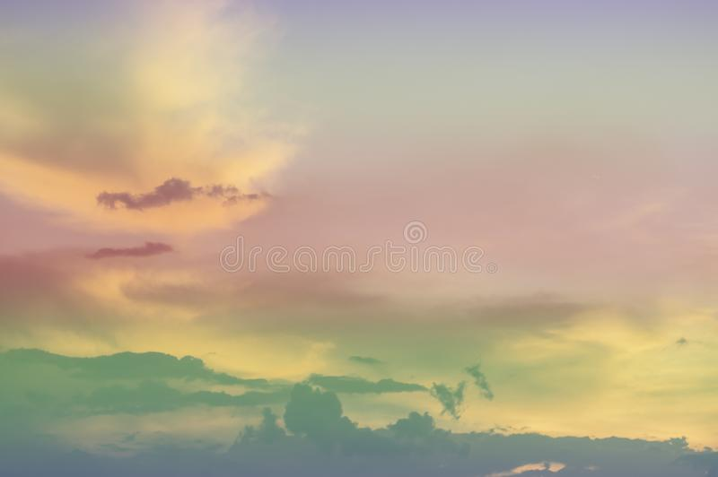 Soft focus, abstract texture pattern colorful sky and clouds naturally, bright colors with gradients of beautiful pastel shades.  royalty free stock images
