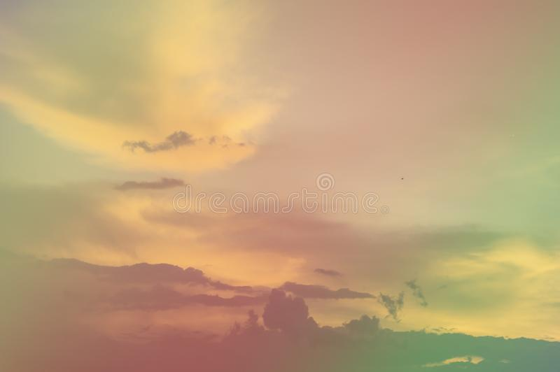 Soft focus, abstract texture pattern colorful sky and clouds naturally, bright colors with gradients of beautiful pastel shades.  stock photography