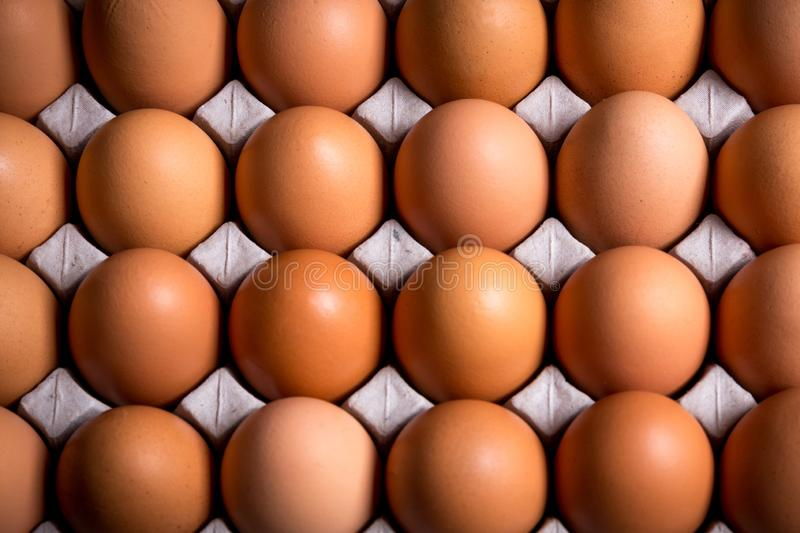Soft focus Fresh organic panel eggs on sackcloth stock images