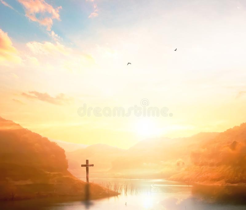 Christian background with copy space for your tex royalty free stock photography
