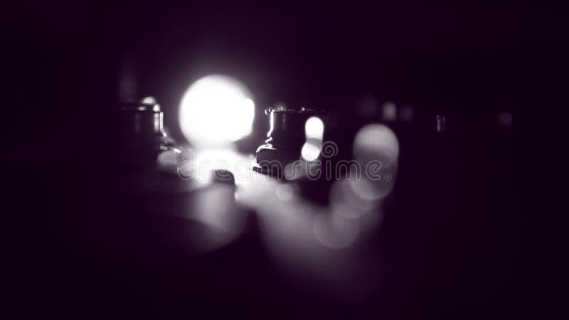 Soft focus on spotlight stock images