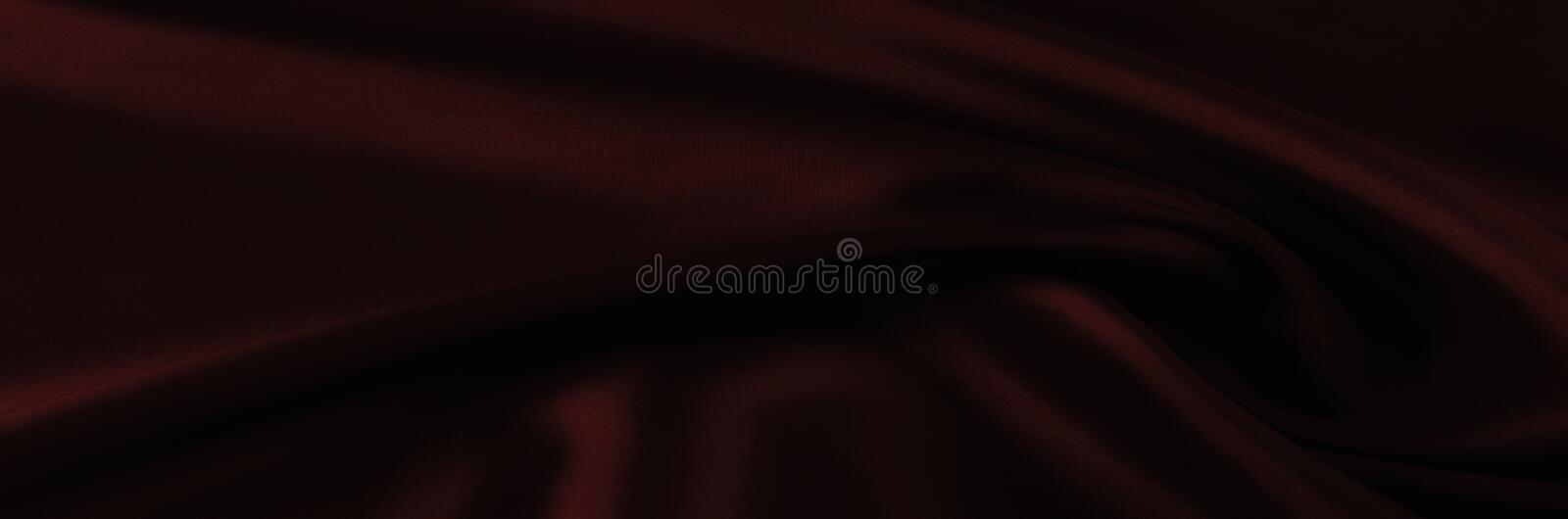 Soft focus. texture, pattern. cloth silk red. it is a light smo. Oth drape that promotes movement. Thin and light, add a delicious piece to your autumn-winter stock photo
