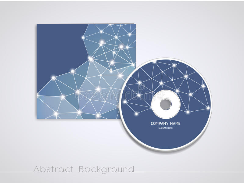 Soft geometric background design for CD cover template. In blue royalty free illustration