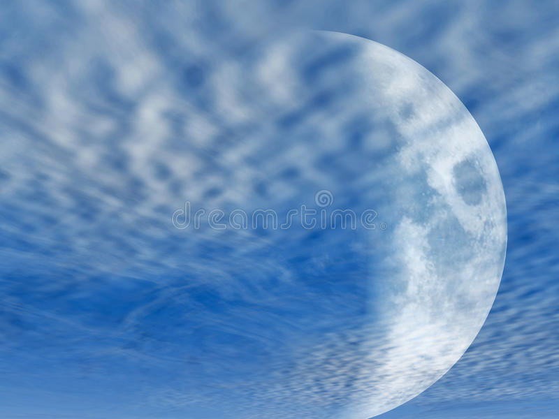 Download Soft glowing moon stock illustration. Image of clouds - 11342647