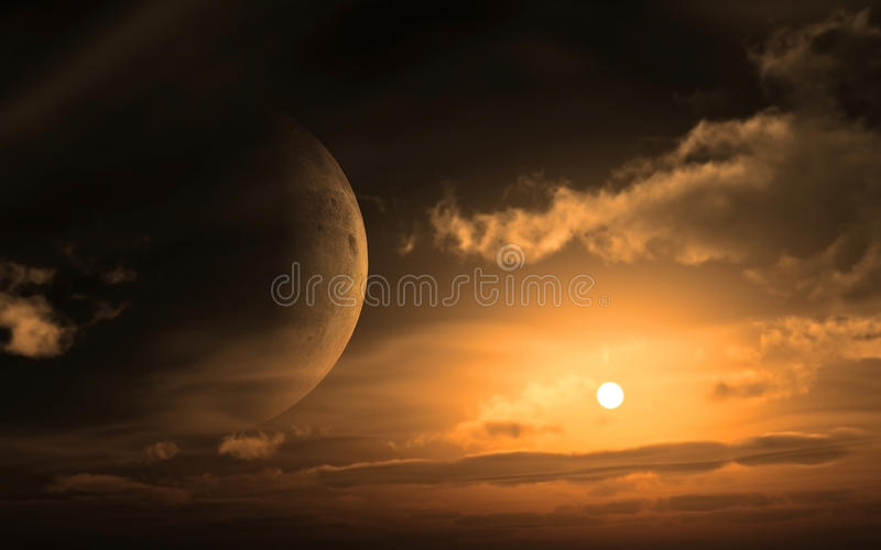 Download Soft Glowing moon stock illustration. Image of crater - 11675937