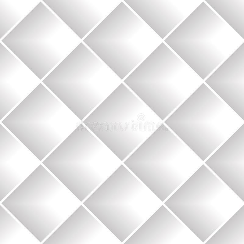 Gray diagonal squares seamless pattern. royalty free illustration
