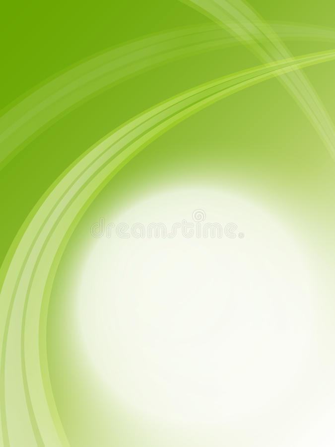 Soft green business template. Soft green background and green rays