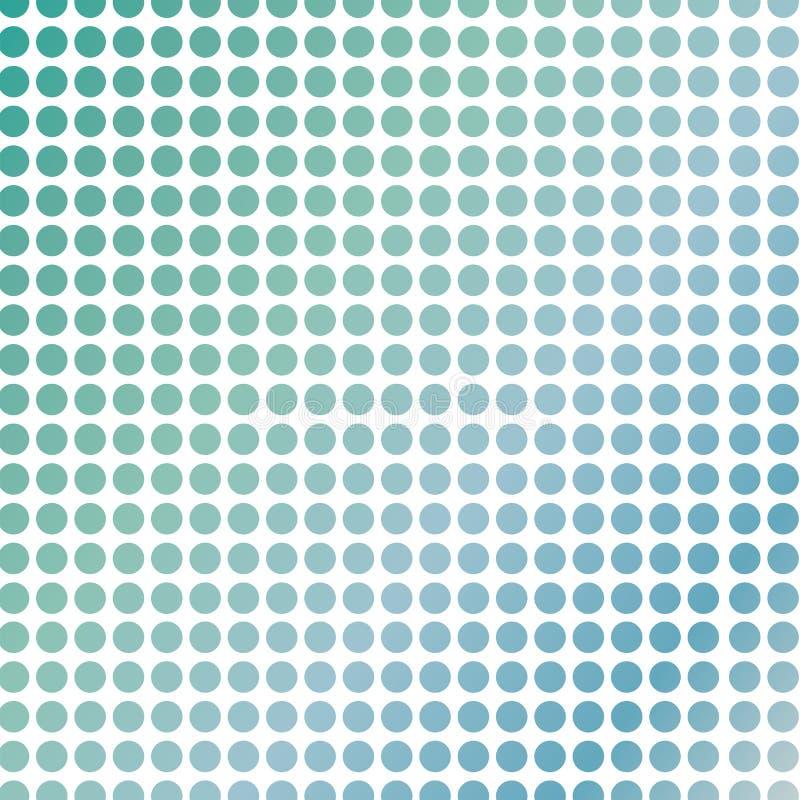 Soft green polka dots. On white royalty free illustration