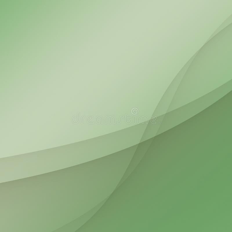 Soft green ribbons luxury abstract background paper illustration. Soft and gentle curving ribbons float and overlap in this elegant luxury abstract background vector illustration