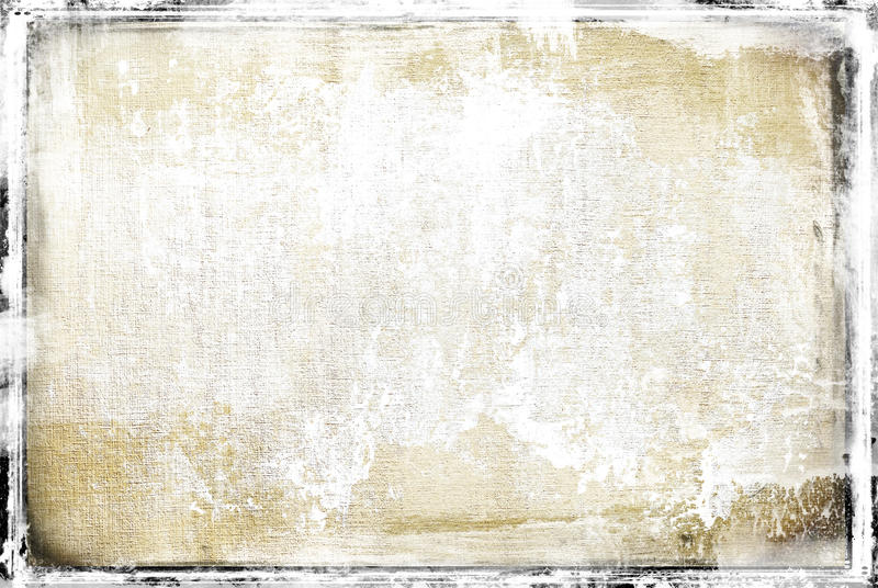 Soft grunge frame. Grunge paper texture with frame in bright tones royalty free illustration
