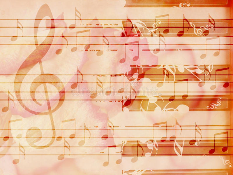 Soft grunge music background with piano stock photo