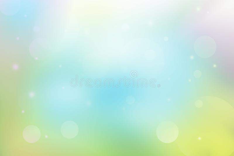 Soft light and bokeh abstract background. Colorful and soft light abstract background, soft light and bokeh abstract background royalty free illustration