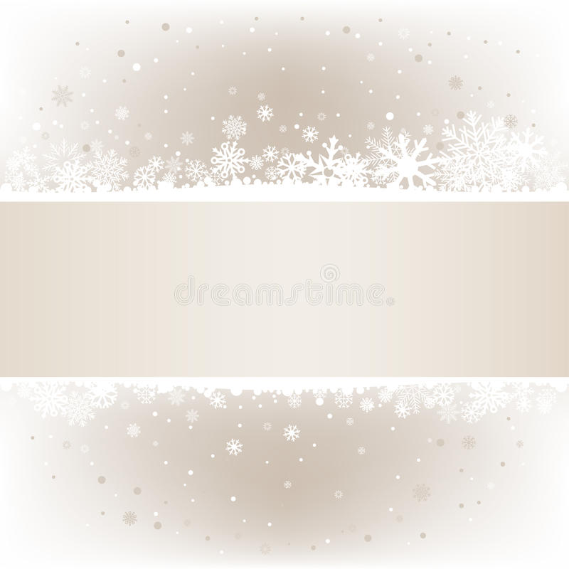 Soft light snow mesh background with textarea. The white snow on the soft light mesh background with textarea, winter theme. No transparent objects vector illustration