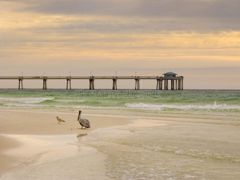 Soft morning light on beach at Florida's Emerald Coast beach stock photos