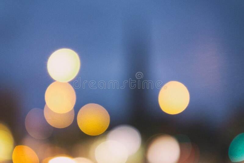 Soft night lights stock photography