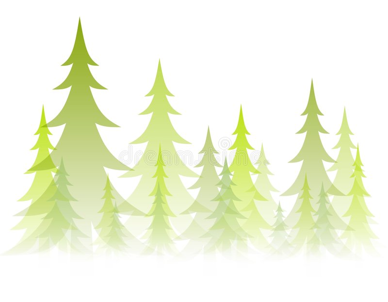 Soft Opaque Winter Trees royalty free illustration