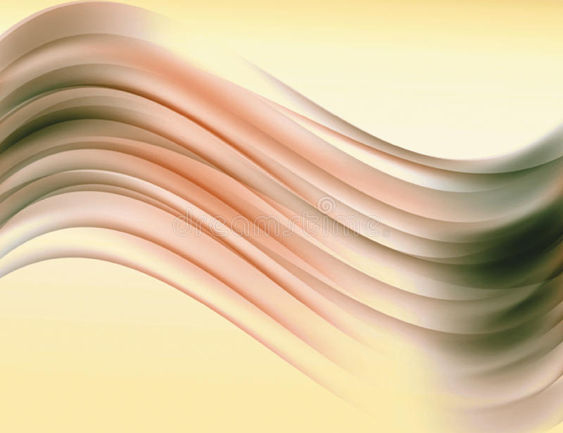 Soft orange and brown wavy lines as abstract backgrounds royalty free illustration