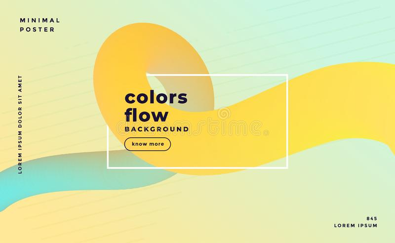 Soft pastel color abstract fluid loop background vector illustration