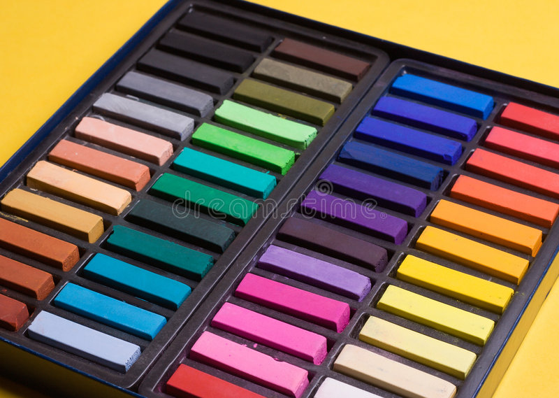 Soft pastels. In a box royalty free stock images