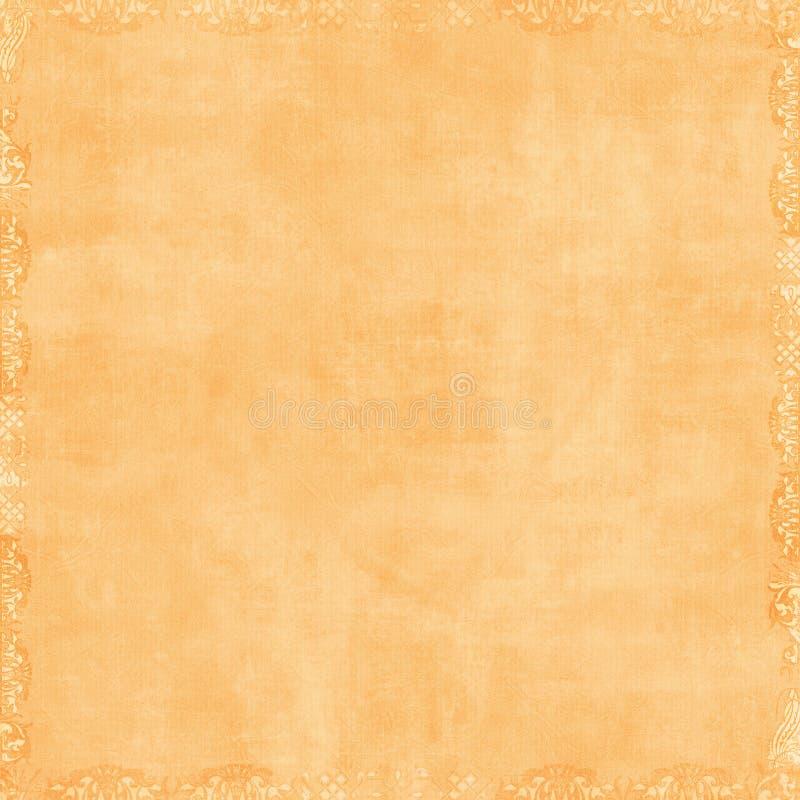 Soft Peach Orange Scrapbook Background. Soft grungy textured background antique vintage style stock photography