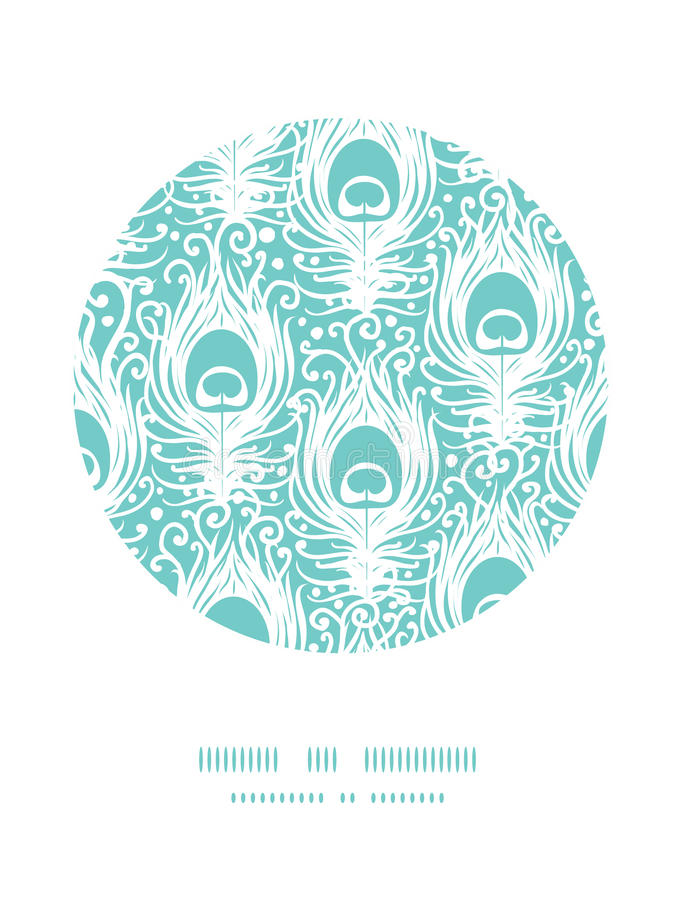 Download Soft Peacock Feathers Vector Circle Decor Pattern Stock Vector - Image: 33196982