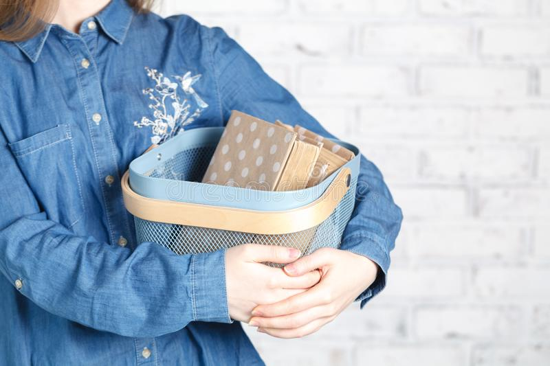 Soft photo of woman with old book stock photos
