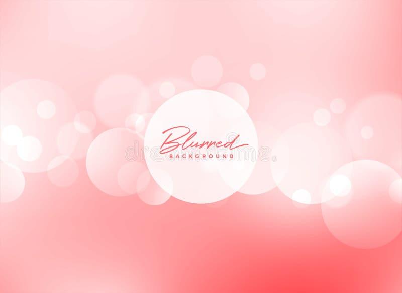 Soft pink bokeh beautiful background stock illustration