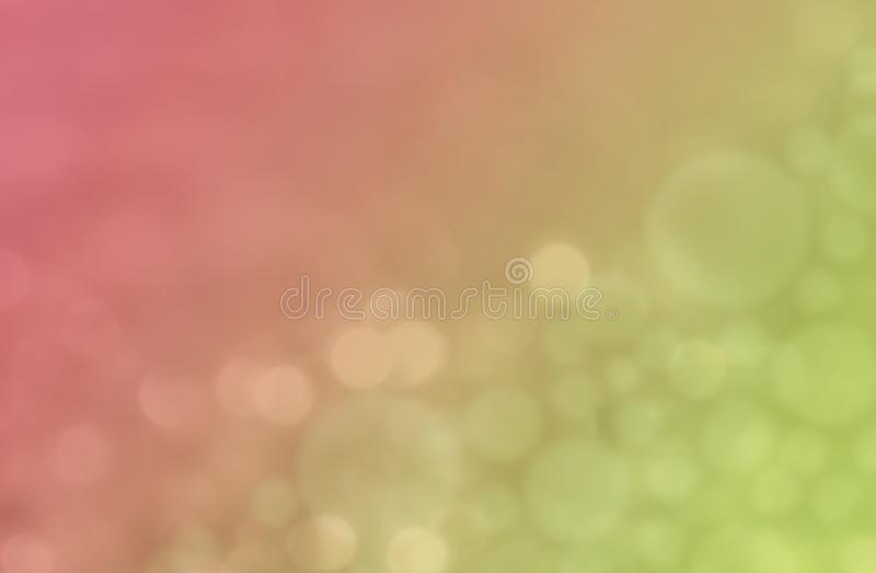 Soft pink and green colorful bokeh abstract wallpaper background illustration. royalty free illustration