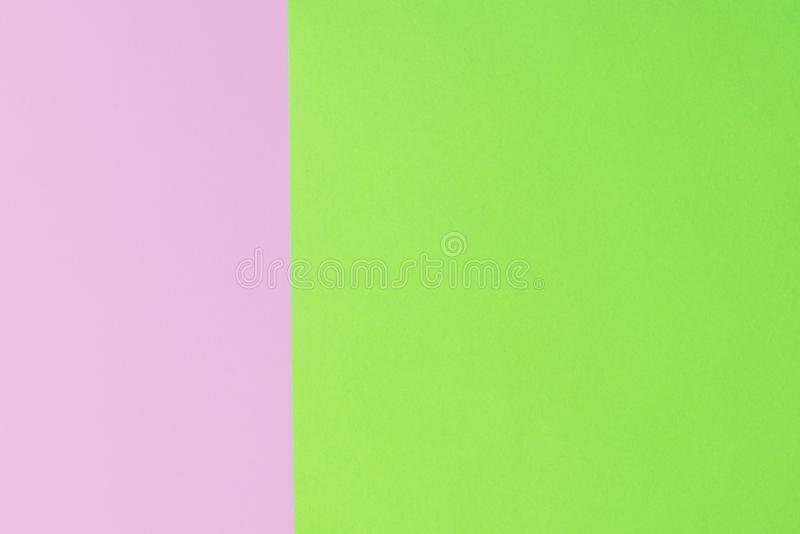 Soft pink and green paper as texture background. Flat lay. Minimal concept. Creative concept. Pop Art. Bright Sweet fashion Style. stock photos