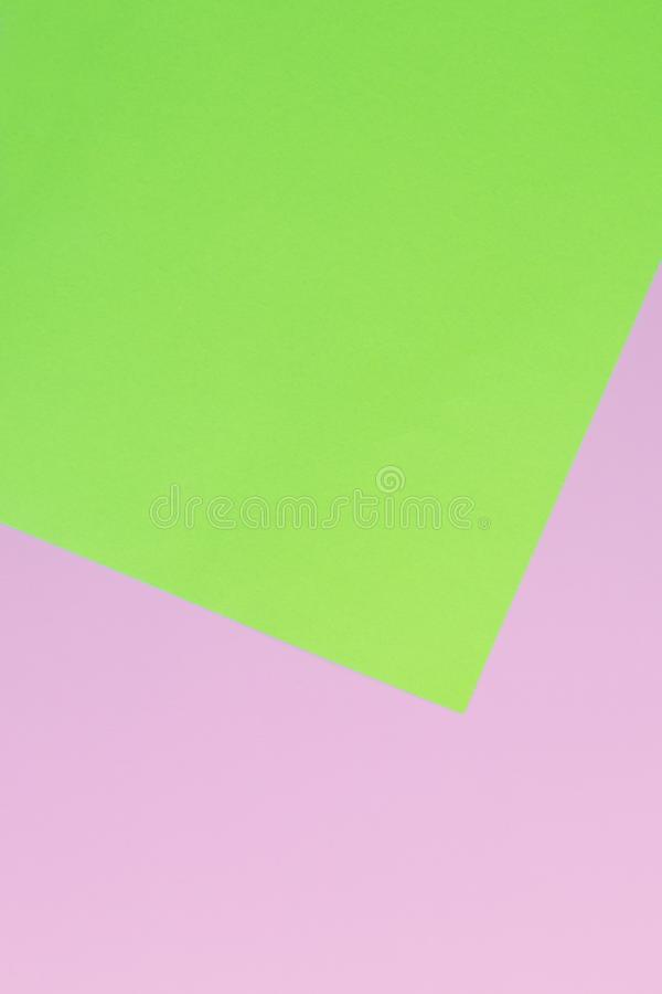 Soft pink and green paper as texture background. Flat lay. Minimal concept. Creative concept. Pop Art. . stock images