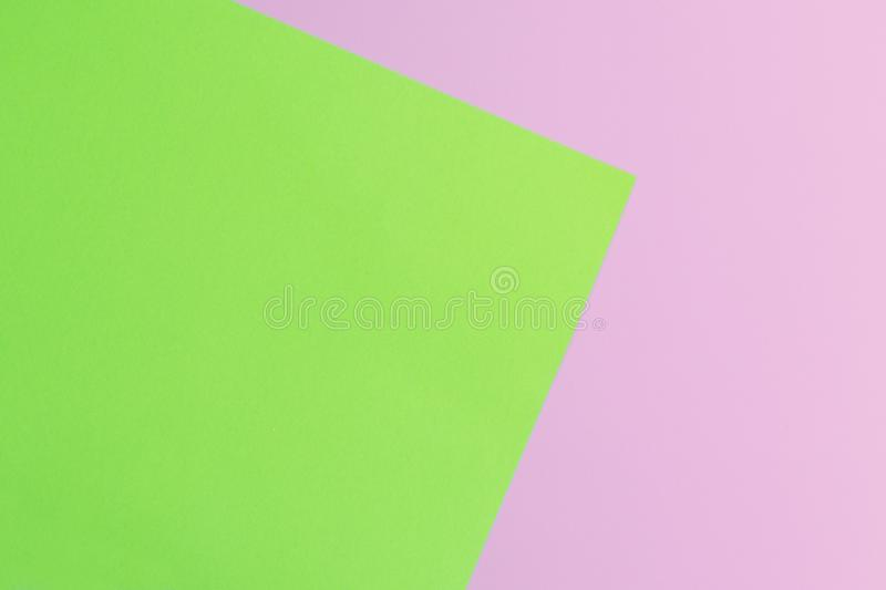 Soft pink and green paper as texture background. Minimal concept. Creative concept. Pop Art. Bright Sweet fashion Style. royalty free stock photo