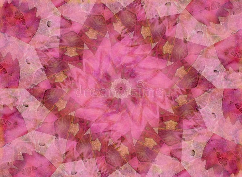 Soft Pink Kaleidoscope Pattern. A nice pink abstract pinwheel or kaleidoscope design texture which is great for scrapbooking or similar projects royalty free stock photography