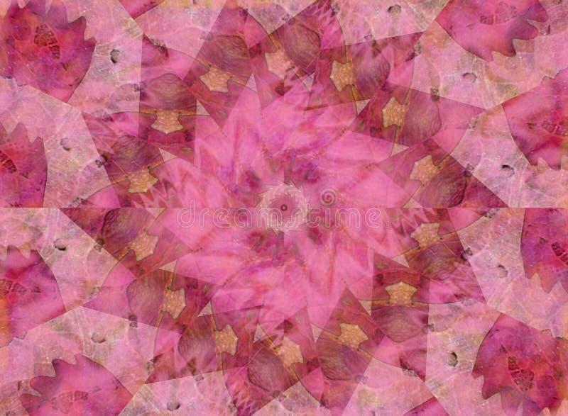 Soft Pink Kaleidoscope Pattern royalty free stock photography