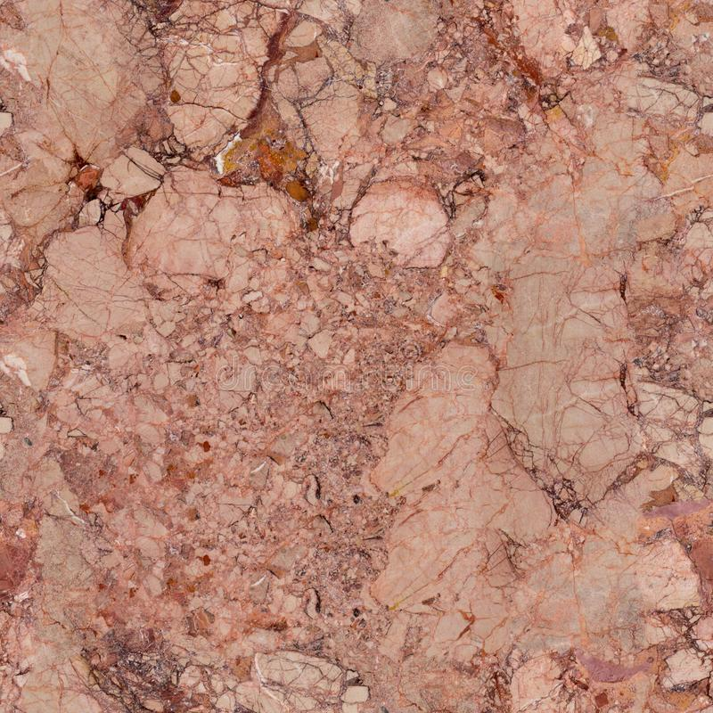 Soft pink marble texture with contrast cracks. Seamless square background, tile ready. High resolution photo stock photo