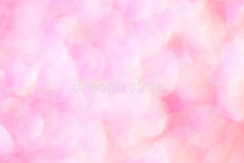 Soft pink pastels background. Blurred lights for tender wedding cards royalty free stock photo