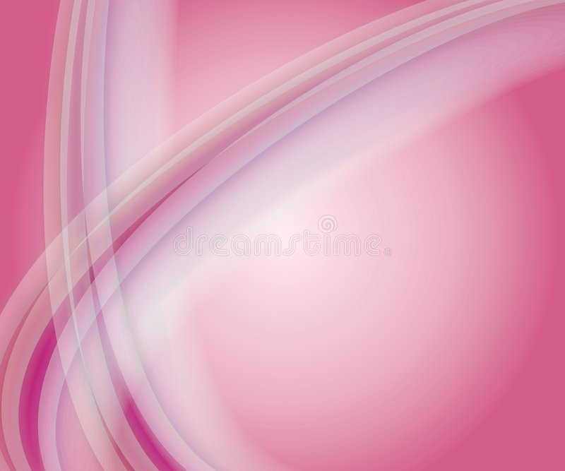 Soft Pink Swoosh Background. A soft feminine pink and white swoosh background with opaque curved lines and gradient color vector illustration