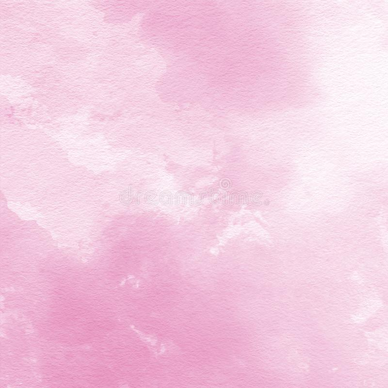 Soft pink watercolor texture background, hand painted royalty free illustration