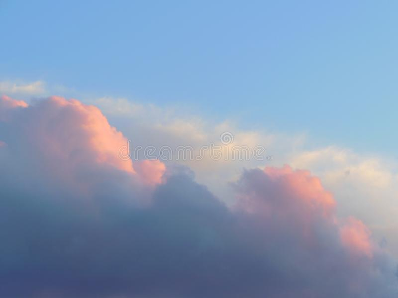 Soft Pink and White Clouds stock image