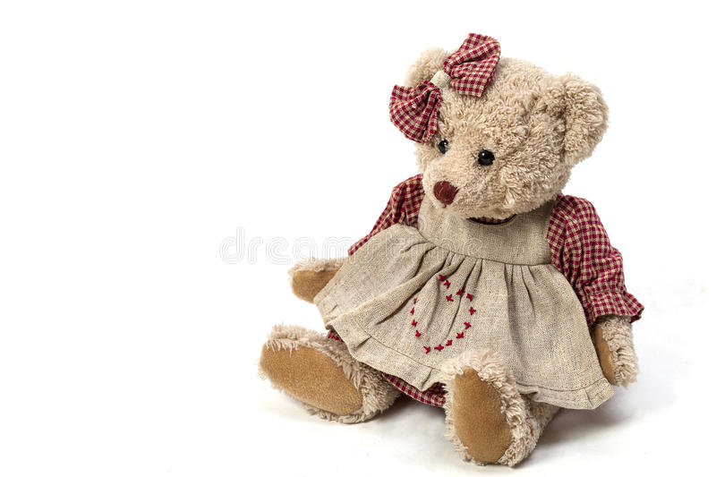 Download Soft Plush Toy Bear In A Dress Stock Photo - Image: 83700603