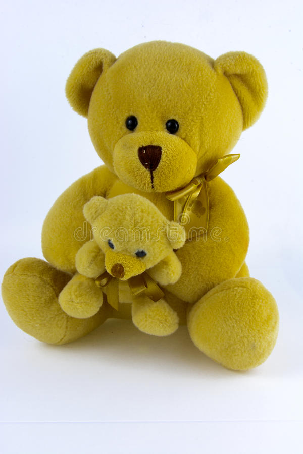 Soft and plush toys. On a white background royalty free stock image