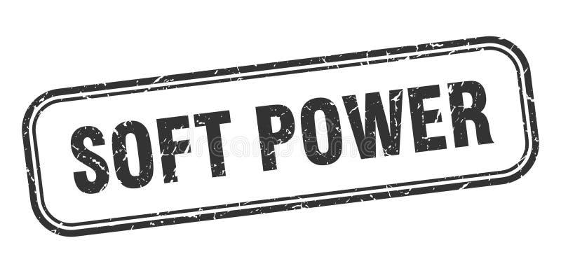 soft power stamp. soft power square grunge sign. stock illustration