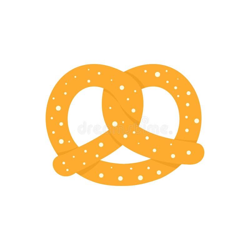 Free Soft Pretzel Icon, Flat Style Stock Image - 126479731