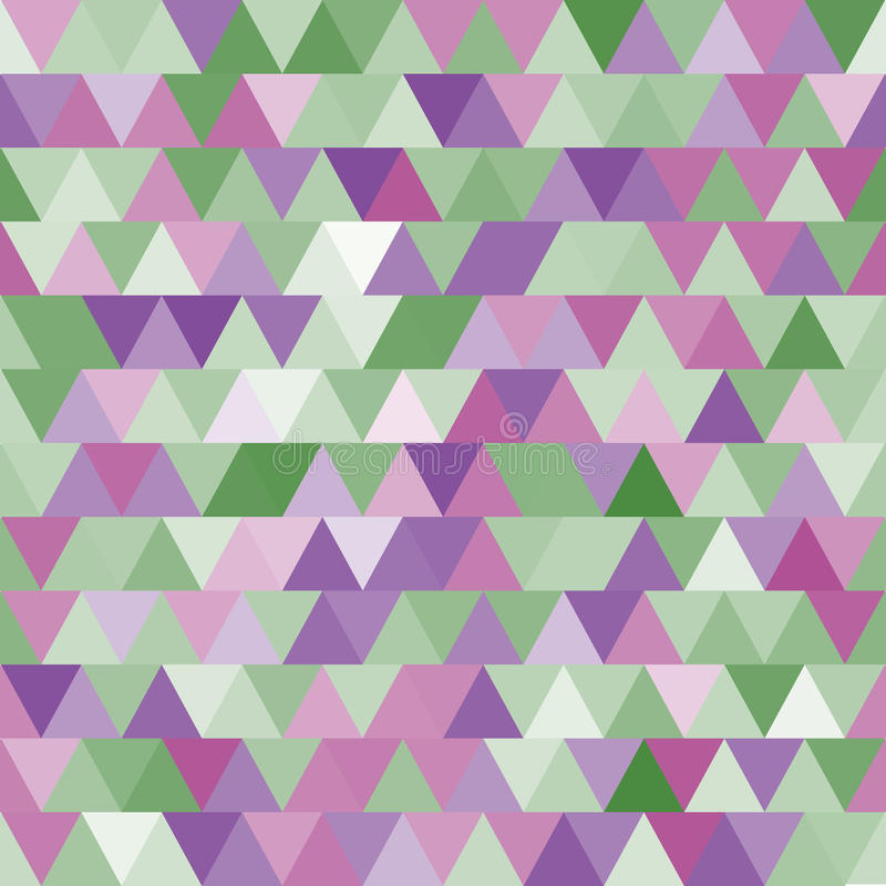Free Soft Purple And Green Vector Seamless Pattern With Triangles. Abstract Background. Stock Photos - 57870723
