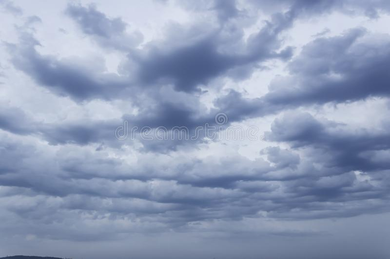 The clouds proves filter sun lights. The soft rain clouds moving on the sky to cry the rain drop royalty free stock photo