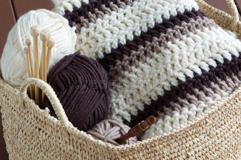 Knitting material royalty free stock photography