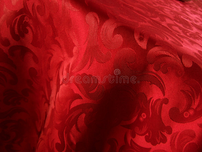 Soft red fabric royalty free stock photography