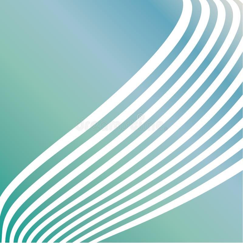 Soft sea green swirls. Background stock illustration
