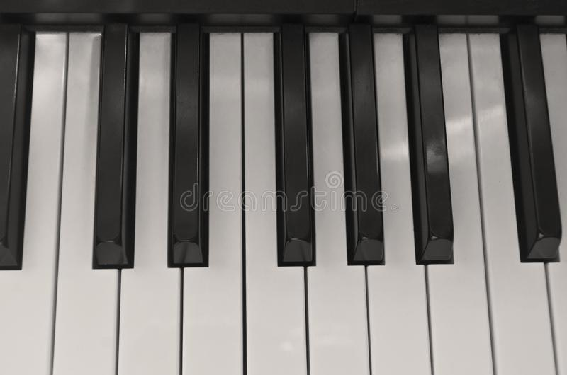 Soft sepia piano keys royalty free stock image