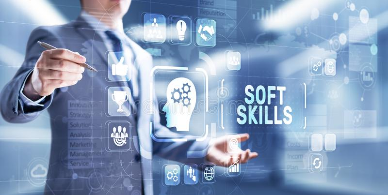 Soft skill personal attribute development business concept. royalty free stock photography