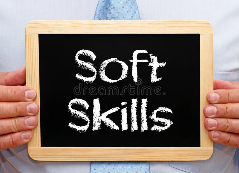 Soft Skills Chalboard royalty free stock photography